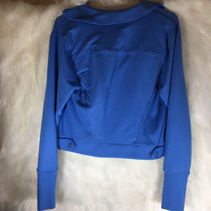 H by Halston Jackets & Coats - Halston Blue Moto Jacket Cotton Size 10
